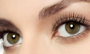 treated eyelashes